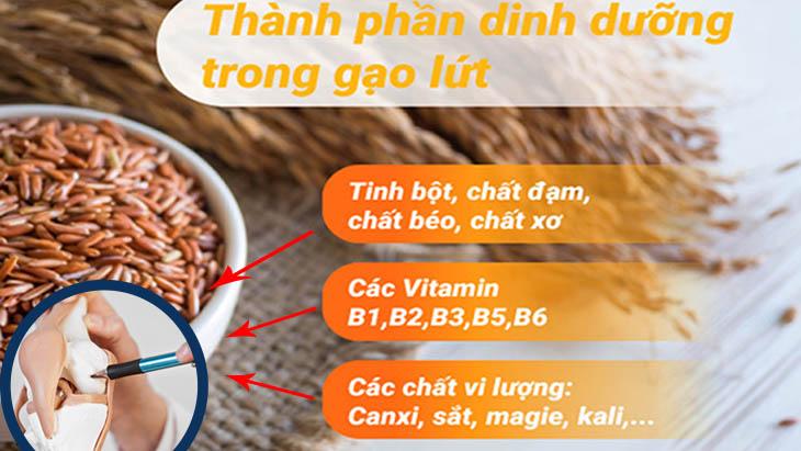 Gạo lứt có chứa rất nhiều dưỡng chất có lợi cho người bị thoái hóa khớp