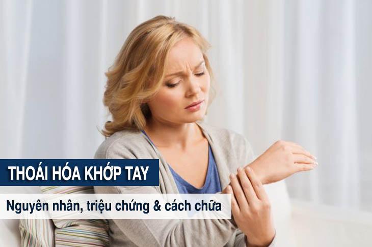Thoái hóa khớp tay là tình trạng phần sụn ở khớp tay bị khô cứng, bào mòn