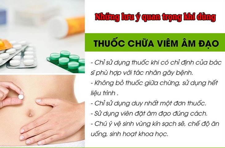 lưu ý dùng thuốc đặt phụ khoa