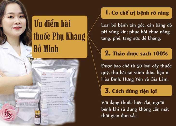 Bài thuốc Phụ Khang Đỗ Minh được bào chế theo công thức bí truyền 150 năm của dòng tộc