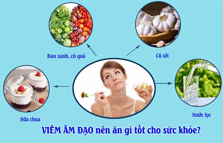 viêm âm đạo nên kiêng ăn gì, ăn gì