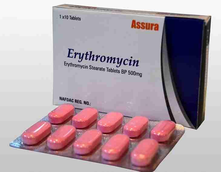 Thuốc Erythromycincó tác dụng ức chế và ngăn chặn sự phát triển của vi khuẩn gây bệnh