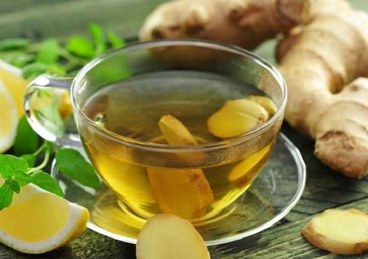 Uống trà gừng sẽ giúp cải thiện các triệu chứng của bệnh