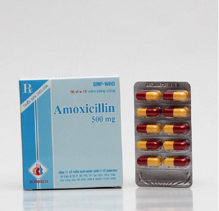 Viêm họng mãn tính uống thuốc gì nhanh khỏi? - Amoxicillin