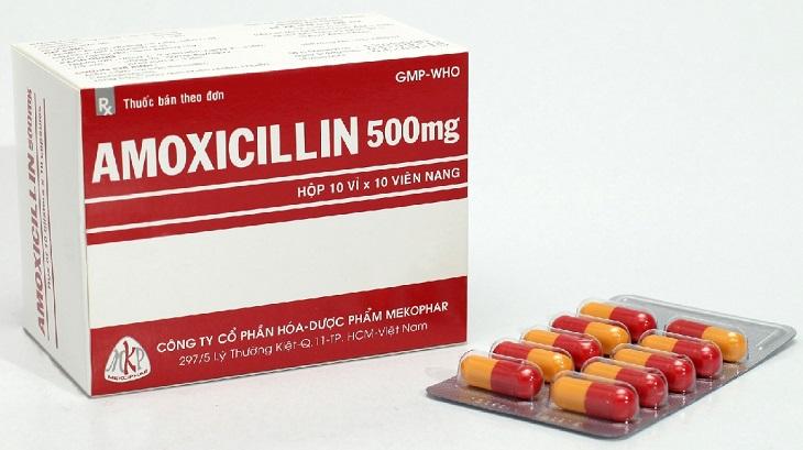 Amoxicillin cũng là một loại thuốc kháng sinh được sử dụng để chữa viêm họng cho các bà bầu khá phổ biến