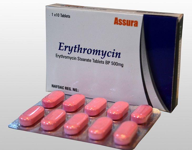 Thuốc kháng sinh Erythromycin chữa viêm họng rất hiệu quả