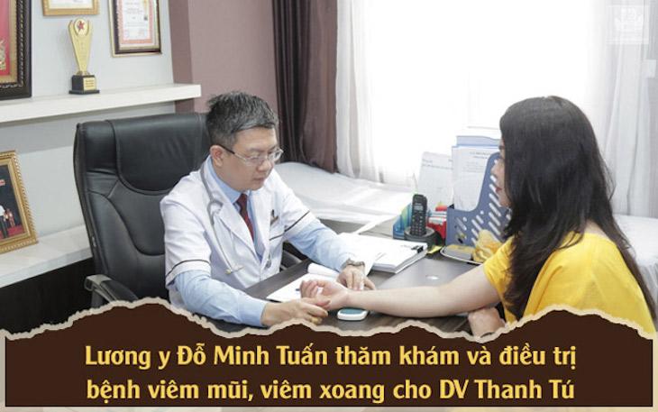 DV Thanh Tú chữa viêm xoang bằng bài thuốc nam Đỗ Minh Đường sau khi khám