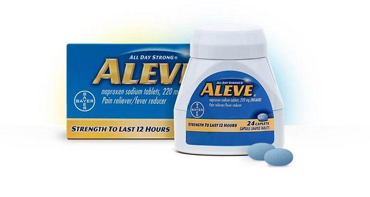 Aleve là thuốc giảm đau hạ sốt được sử dụng nhiều trong điều trị viêm họng hạt