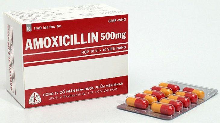 Amoxicillin là thuốc kháng sinh có khả năng loại bỏ nguyên nhân gây bệnh