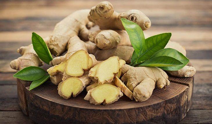 Gừng có vị cay, tính ấm nên có tác dụng chữa bệnh viêm nhiễm đường hô hấp rất hiệu quả