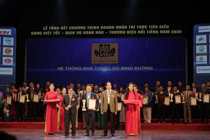 Đỗ Minh Đường lọt Top 20 thương hiệu nổi tiếng Việt Nam năm 2020
