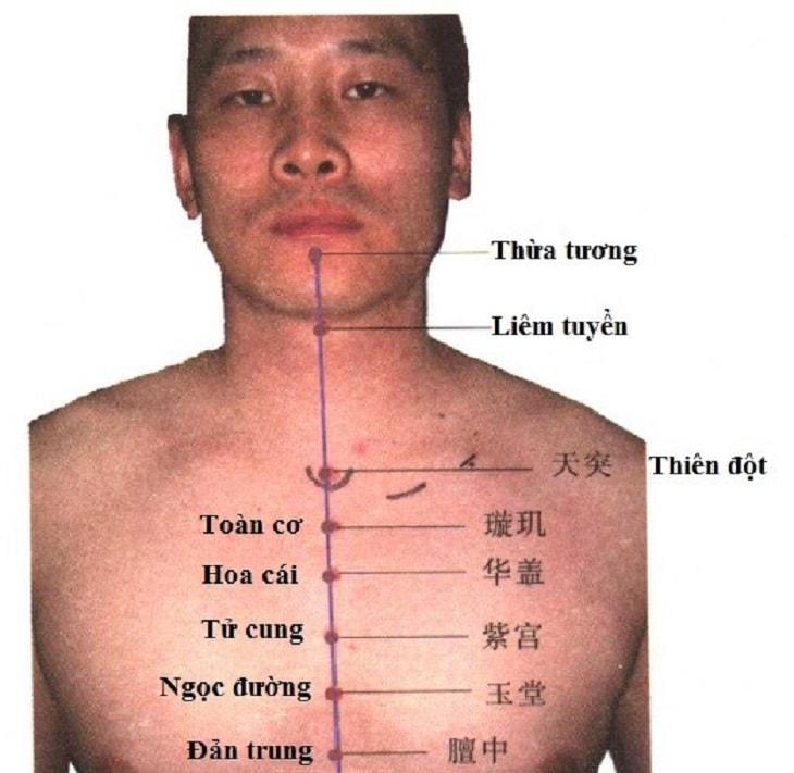 Huyệt Liêm tuyền thích hợp điều trị viêm họng có triệu chứng ho có đờm