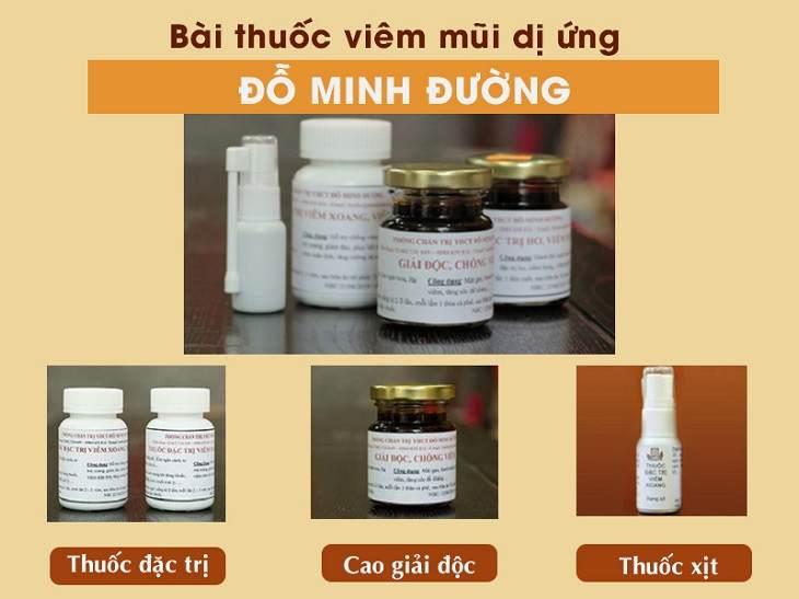 Bài thuốc chữa viêm mũi dị ứng Đỗ Minh Đường