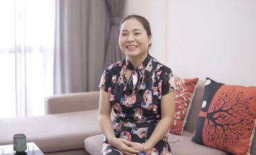 Nụ cười hạnh phúc của chị Lượng sau khi chữa khỏi bệnh