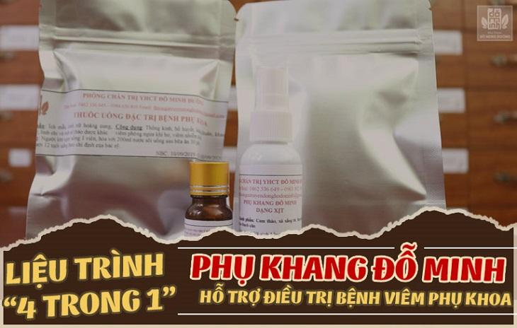 Tác dụng chính của bài thuốc Phụ Khang Đỗ Minh đó chính là loại bỏ vi khuẩn, tiêu sưng và chống viêm