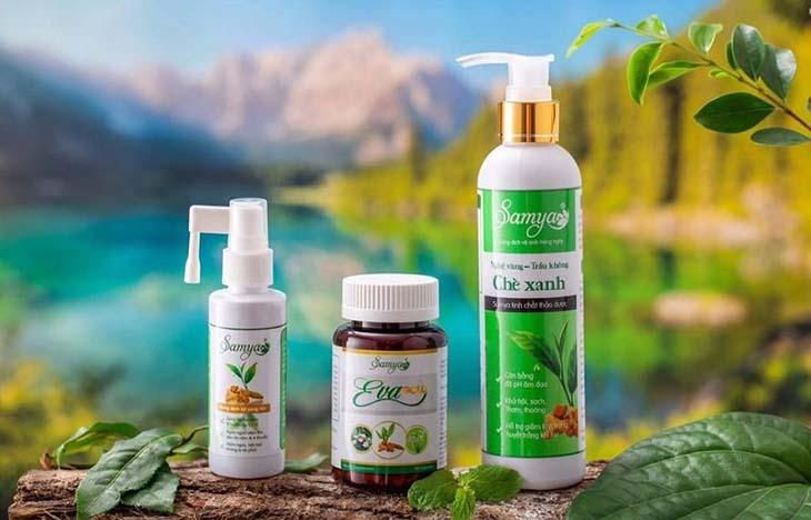 Trọn bộ sản phẩm Samya trị viêm lộ tuyến