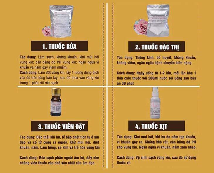Bài thuốc của Phụ khang Đỗ Minh chữa viêm lộ tuyến