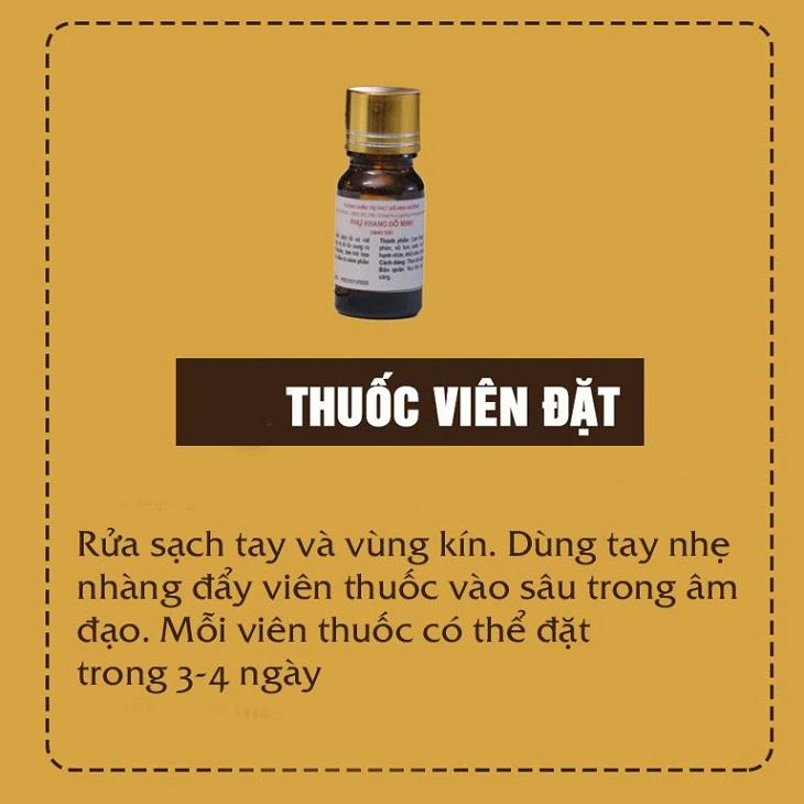 Thuốc đặt âm đạo Phụ Khang Đỗ Minh