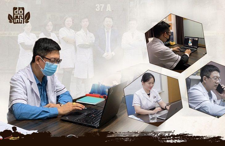 Các bác sĩ Đỗ Minh Đường tổ chức đào tạo nội bộ trực tuyến